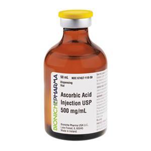 Ascorbic Acid IM/IV Infusion/SubQ SDV 500mg/mL PF Sterile 50ml/Vl - Mylan Institutional — 67457011850 Image