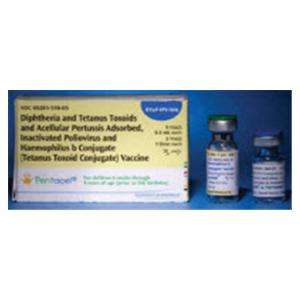 Pentacel DTP/ Polio/ HIB Pediatric Injectable SDV 5/Pk - Sanofi Pasteur — 49281051005 Image
