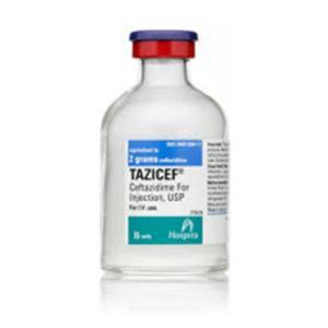 Ceftazidime IM/IV Injection SDV 60mL 2gm/vl PF Sterile FTV 10/Pk - Pfizer Injectables — 00409508411 Image