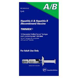 Twinrix Hepatitis A/ B Adult Inj PFS 20mcg-720u 1mL PF 10/Pk - GSK — 58160081552 Image
