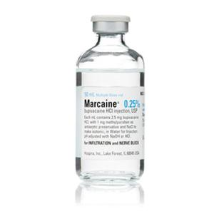 Marcaine Injection MDV 50mL 0.25% Sterile FTV 50mL/Vl - Pfizer Injectables — 00409158750 Image