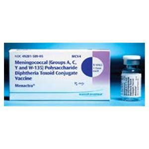 Menactra Meningitis All Ages Injectable SDV Non-Returnable 5/Pk - Sanofi Pasteur — 49281058905 Image