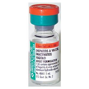 Vaqta Hepatitis A Adult Injectable SDV 1mL 10/Pk - Merck Vaccines — 0006484141 Image